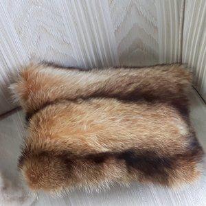 Genuine Coyote/Fox Fur Throw Pillow